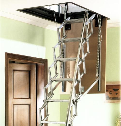 Escaleras escamoteables modelo saf techo - Escalera escamoteable precio ...
