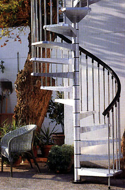 Escalera caracol para exterior en kit modelo civik zink - Escalera caracol exterior ...
